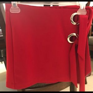 Short Red skirt size M